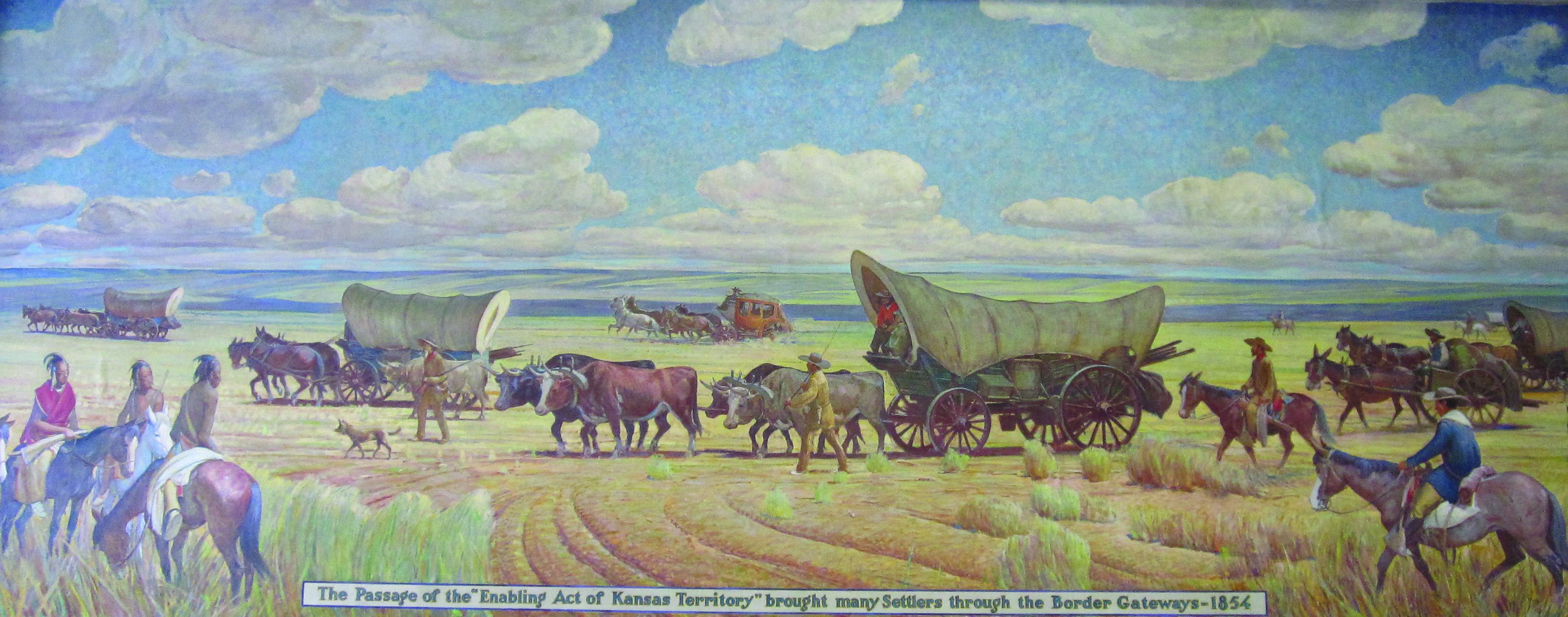 """""""Border Gateways,"""" mural at Fort Scott Post Office"""
